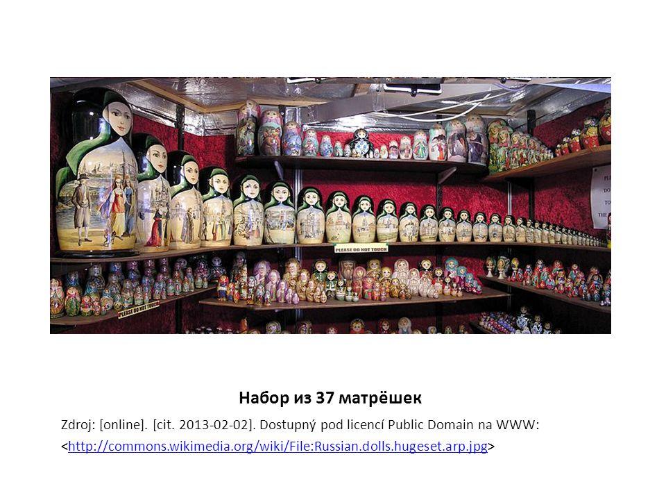 Набор из 37 матрёшек Zdroj: [online]. [cit. 2013-02-02]. Dostupný pod licencí Public Domain na WWW: